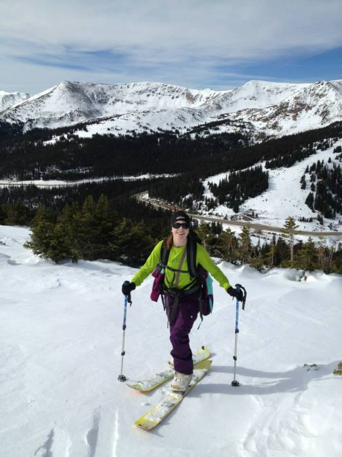 Skinning up Berthoud Pass