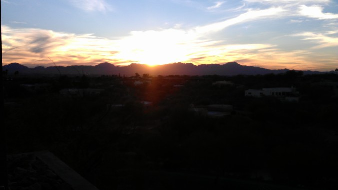 Sunset in Tucson - gorgeous weekend spent in the foothills for work.