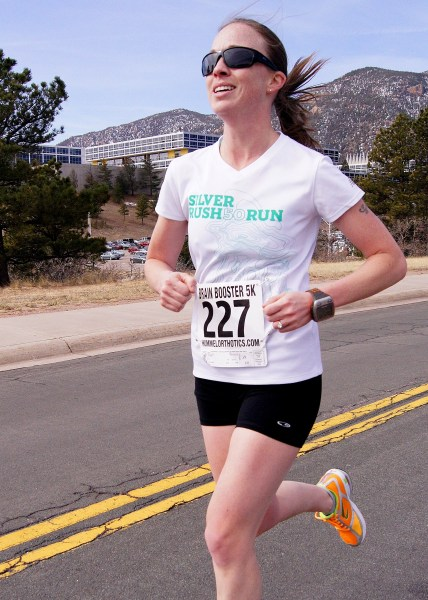 Brain Booster 5K at USAFA - 5th female and won my AG.