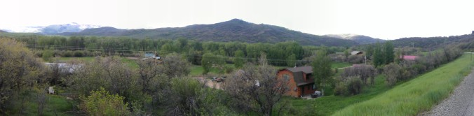 Panorama of the views from the course