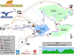 The Bear Chase 50K Map &  Course Profile