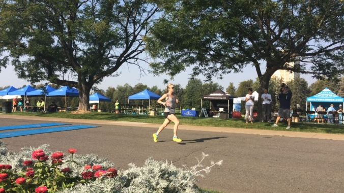First place at the Colorado Courage 5K in 21:03